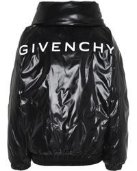 Givenchy Quilted Logo Puffer Jacket - Black