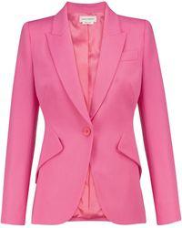Alexander McQueen Blazer aus Schurwolle - Pink