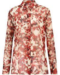 Altuzarra Chemise Chika à fleurs - Rouge