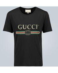 Gucci Camiseta de algodón oversized - Negro