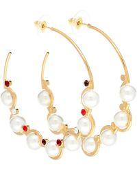 Erdem Embellished Hoop Earrings - Metallic