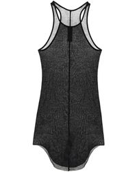 Rick Owens Forever Basic Silk-blend Mesh Tank Top - Black