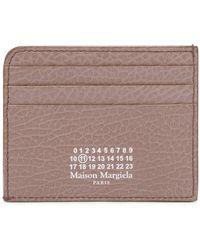 Maison Margiela Kartenetui Four Stitches aus Leder - Lila