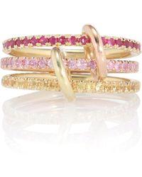 Spinelli Kilcollin Anillo Aurora MX de oro de 18 ct con rubíes y zafiros - Rosa