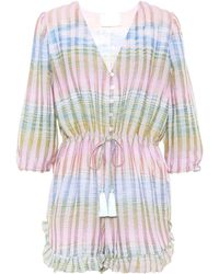 35d5cc15fd Athena Procopiou - Cosmic Dancer Striped Playsuit - Lyst