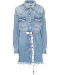 Off-White c/o Virgil Abloh Miniabito di jeans - Blu