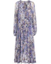 Zimmermann Vestido largo Botanica de seda - Morado