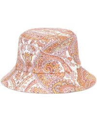 Zimmermann Exclusive To Mytheresa – Reversible Paisley Canvas Bucket Hat - Multicolour