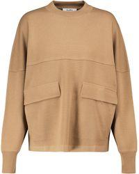 Max Mara Sweat-shirt Xiria en laine vierge - Rouge