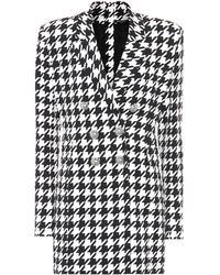 Balmain Houndstooth Blazer Dress - Black