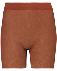 Jacquemus Strick-Shorts Le Short Arancia - Braun