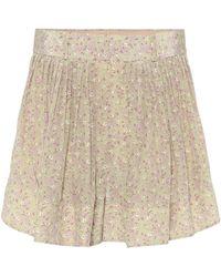 Chloé Shorts a stampa floreale in seta - Neutro