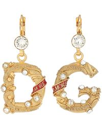 Dolce & Gabbana Embellished Clip-on Earrings - Metallic