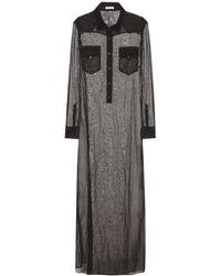Tomas Maier - Hemdblusenkleid aus Baumwolle - Lyst