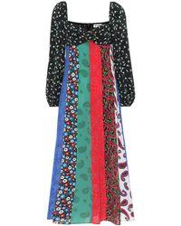 RIXO London Ivy Floral-print Cotton-poplin Midi Dress - Multicolor