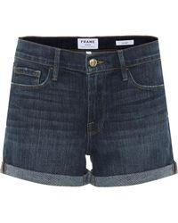 FRAME Le Cutoff Denim Shorts - Blue