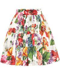 Dolce & Gabbana Floral Cotton Miniskirt - Multicolor