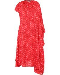 Balenciaga Kleid aus Seide - Rot