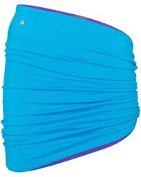 The Attico Minifalda drapeada reversible - Azul