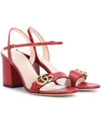 Gucci Sandali Marmont in pelle - Rosso