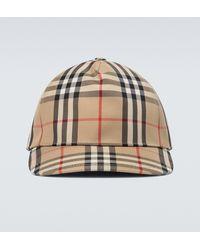 Burberry Casquette à appliqué logo Vintage check - Neutre