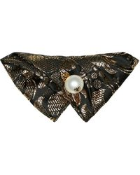 Dolce & Gabbana Verzierte Haarspange aus Brokat - Schwarz