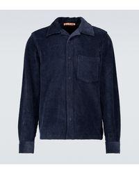 Acne Studios Hemdjacke Denver aus Baumwollcord - Blau