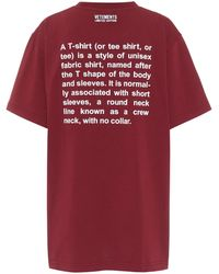 Vetements X Hanes T-Shirt Definition - Rot