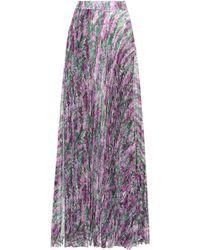 Max Mara - Floral-printed Pleated Skirt - Lyst