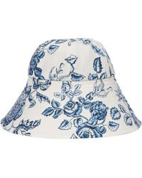 Erdem Floral Cotton Hat - White