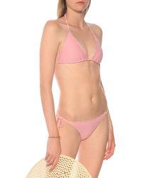 Heidi Klein Pampelonne Scalloped Bikini Top - Pink