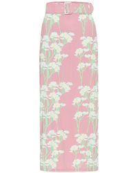 BERNADETTE Monica Stretch-jersey Midi Skirt - Pink