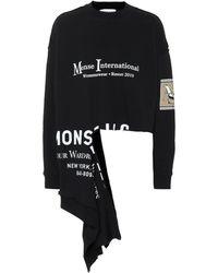 Monse - Asymmetric Cotton Sweatshirt - Lyst