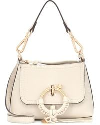 See By Chloé Schultertasche Joan Small aus Leder - Natur