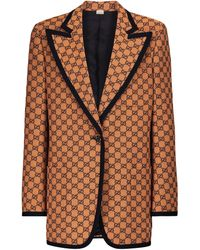 Gucci Blazer GG Multicolor mezcla de algodón - Naranja