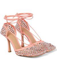 Bottega Veneta Salones Sparkle Stretch de piel - Rosa