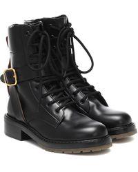 Chloé Ankle Boots aus Leder - Schwarz