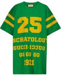 Gucci Camiseta Eschatology de algodón - Verde