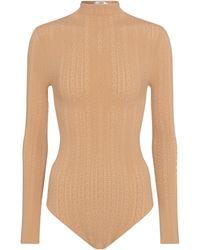 Fendi Lace Bodysuit - Natural