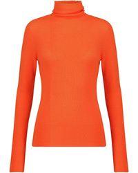 Ganni Dolcevita in lana merino - Arancione