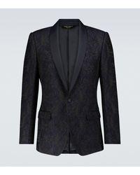 Dolce & Gabbana Exclusivité Mytheresa - Blazer en jacquard - Bleu