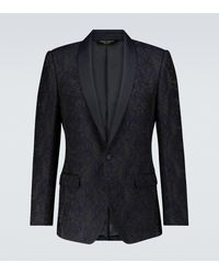Dolce & Gabbana Esclusiva Mytheresa - Blazer effetto jacquard - Blu