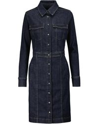 7 For All Mankind Luxe Denim Dress - Blue