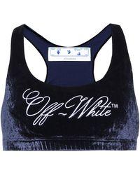 Off-White c/o Virgil Abloh Velour Bralette - Blue