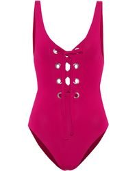 Mara Hoffman - Desa Lace-up Swimsuit - Lyst