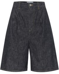 Loewe High-rise Denim Shorts - Blue