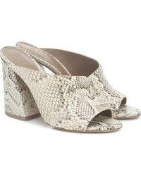 MERCEDES CASTILLO Izar Snake-effect Leather Sandals - Natural