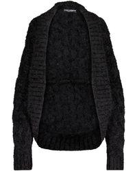 Dolce & Gabbana Cashmere And Wool-blend Cardigan - Black