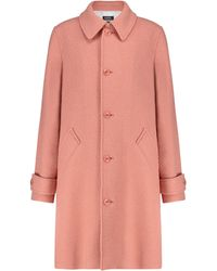 A.P.C. Suzanne Wool-blend Coat - Pink