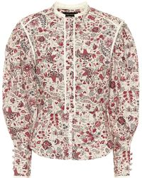 Isabel Marant Blouse Cleosi en coton à fleurs - Multicolore